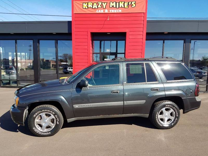 2004 chevrolet trailblazer ls 4wd 4dr suv in altoona wi krazy mikes car and truck 2004 chevrolet trailblazer ls 4wd 4dr