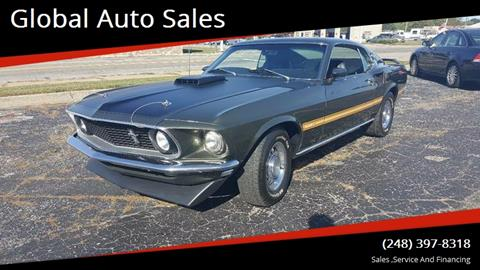 1969 Ford Mustang for sale at Global Auto Sales in Hazel Park MI