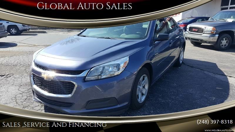 2014 Chevrolet Malibu for sale at Global Auto Sales in Hazel Park MI