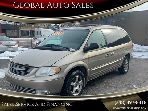2002 Chrysler Town and Country for sale at Global Auto Sales in Hazel Park MI