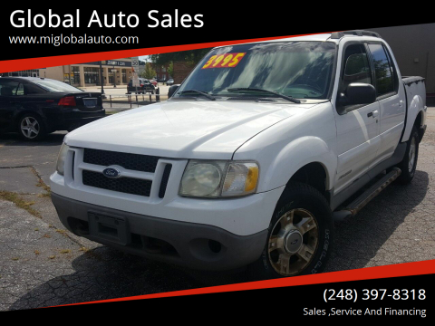2001 Ford Explorer Sport Trac for sale at Global Auto Sales in Hazel Park MI