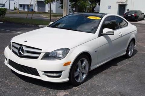 2012 Mercedes-Benz C-Class for sale in Hallandale Beach, FL