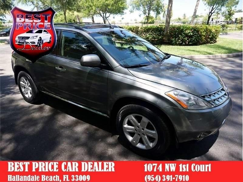 2006 Nissan Murano For Sale At Best Price Car Dealer In Hallandale Beach FL