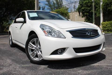 2012 Infiniti G25 Sedan for sale in Hallandale Beach, FL
