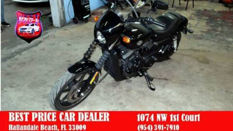2015 Harley-Davidson xg 750 motor cycle for sale at Best Price Car Dealer in Hallandale Beach FL