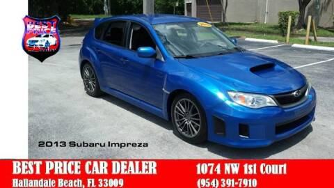 2013 Subaru Impreza for sale at Best Price Car Dealer in Hallandale Beach FL