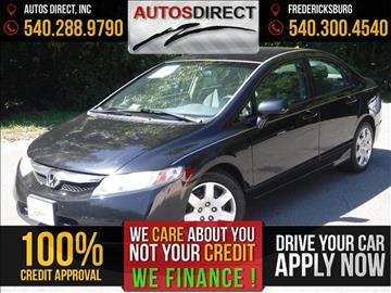 2009 Honda Civic for sale in Fredericksburg, VA