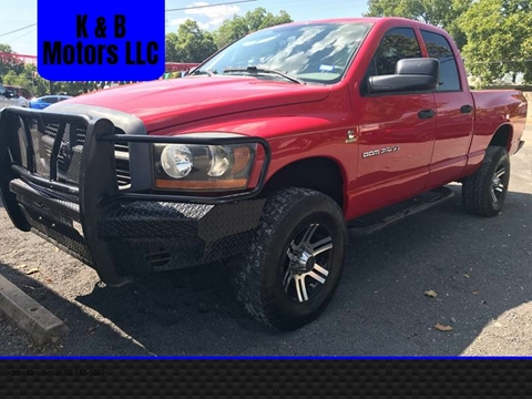 2006 Dodge Ram Pickup 2500 for sale at K & B Motors LLC in Mc Queeney TX