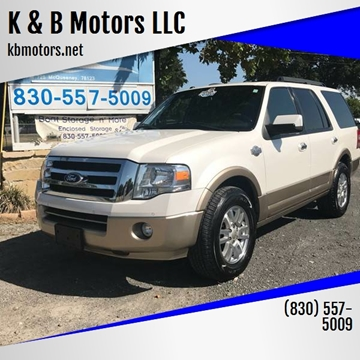2012 Ford Expedition for sale at K & B Motors LLC in Mc Queeney TX