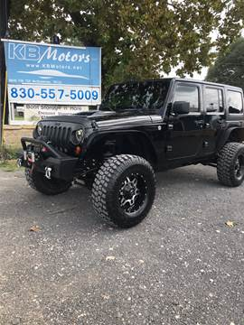 2013 Jeep Wrangler Unlimited for sale at K & B Motors LLC in Mc Queeney TX