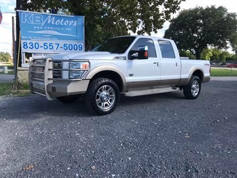 2011 Ford F-250 Super Duty for sale at K & B Motors LLC in Mc Queeney TX