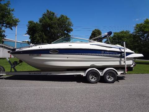 2007 CROWNLINE 240EX DECK BOAT OPEN BOW for sale at Celtic Cycles in Voorheesville NY