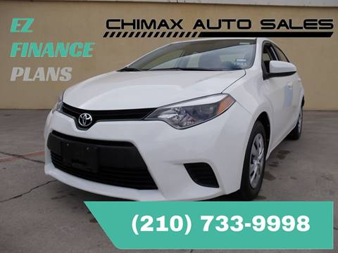 2014 Toyota Corolla for sale at Chimax Auto Sales in San Antonio TX