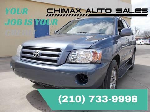 2005 Toyota Highlander for sale at Chimax Auto Sales in San Antonio TX