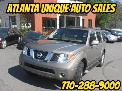 2007 Nissan Pathfinder for sale at Atlanta Unique Auto Sales in Norcross GA