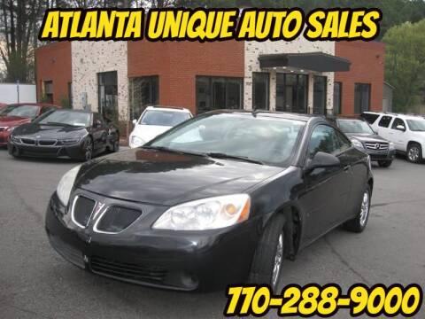 2008 Pontiac G6 for sale at Atlanta Unique Auto Sales in Norcross GA