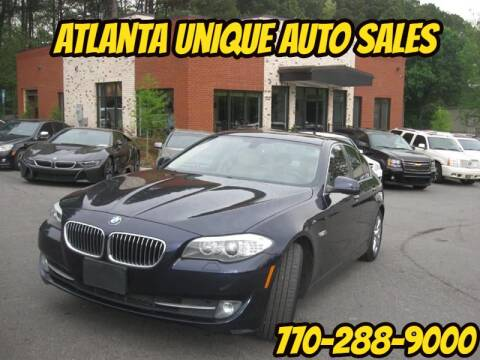 2013 BMW 5 Series for sale at Atlanta Unique Auto Sales in Norcross GA