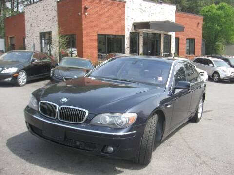 2007 BMW 7 Series for sale at Atlanta Unique Auto Sales in Norcross GA
