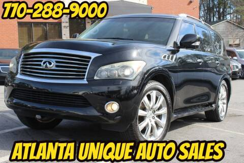 2012 Infiniti QX56 for sale at Atlanta Unique Auto Sales in Norcross GA