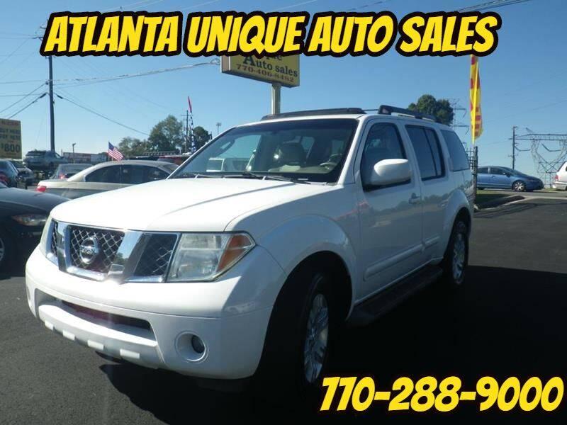 2006 Nissan Pathfinder for sale at Atlanta Unique Auto Sales in Norcross GA