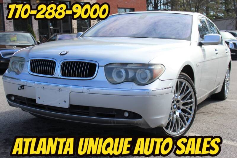 2005 BMW 7 Series for sale at Atlanta Unique Auto Sales in Norcross GA