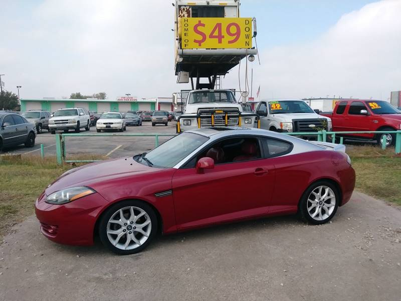 2007 hyundai tiburon gt in dallas tx usa auto sales. Black Bedroom Furniture Sets. Home Design Ideas
