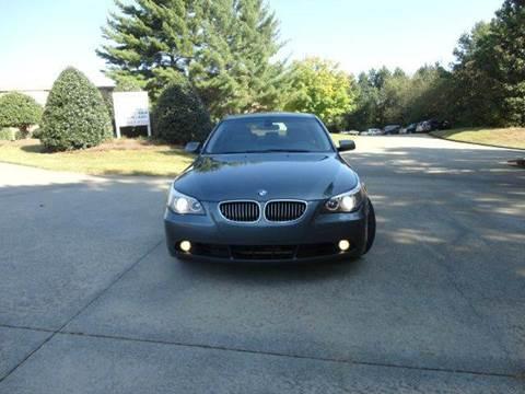 2007 BMW 5 Series for sale at German Auto World LLC in Alpharetta GA
