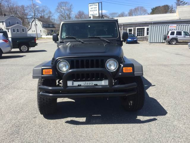 2002 Jeep Wrangler For Sale At Driftway Auto Sales In Scituate MA