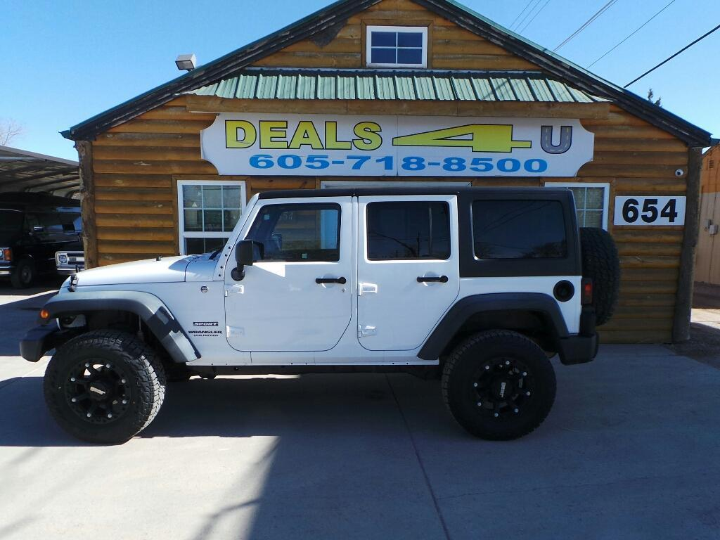2012 Jeep Wrangler Unlimited for sale at DEALS 4U in Rapid City SD