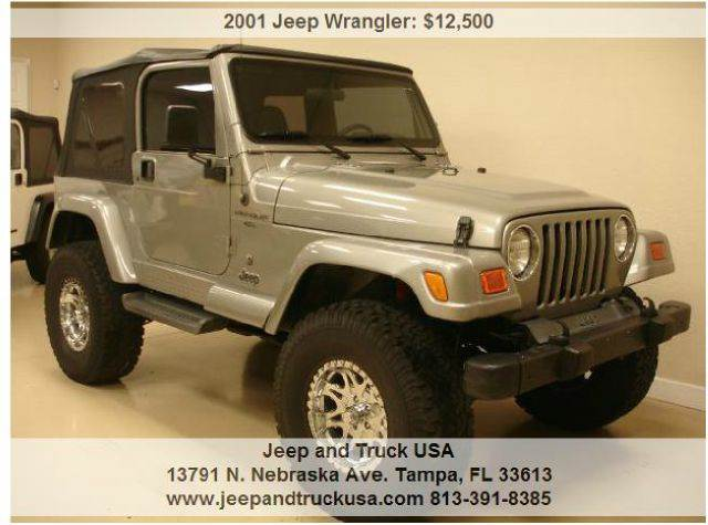 2001 jeep wrangler sport in tampa fl jeep and truck usa. Black Bedroom Furniture Sets. Home Design Ideas