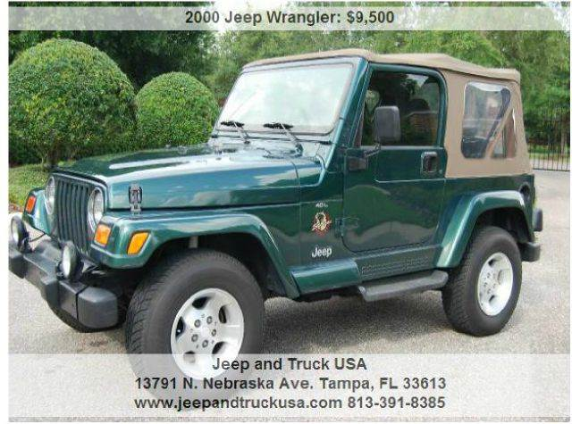 2000 Jeep Wrangler For Sale At Jeep And Truck USA In Tampa FL