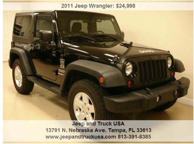 2011 jeep wrangler sport in tampa fl jeep and truck usa. Black Bedroom Furniture Sets. Home Design Ideas