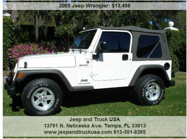 2005 Jeep Wrangler For Sale At Jeep And Truck USA In Tampa FL