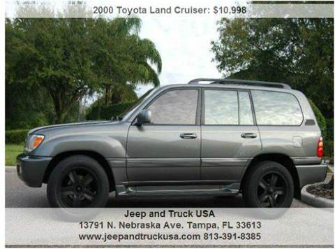 2000 Toyota Land Cruiser for sale at Jeep and Truck USA in Tampa FL