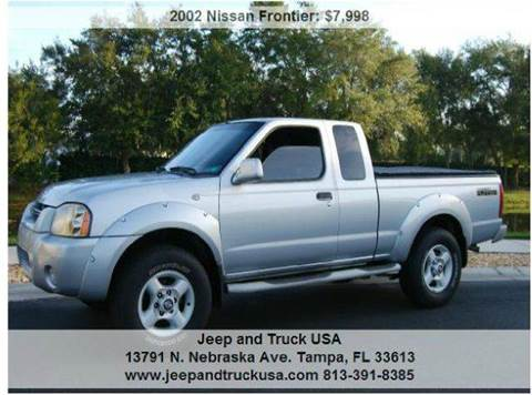 2002 Nissan Frontier for sale at Jeep and Truck USA in Tampa FL