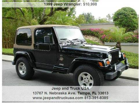 1999 Jeep Wrangler for sale at Jeep and Truck USA in Tampa FL