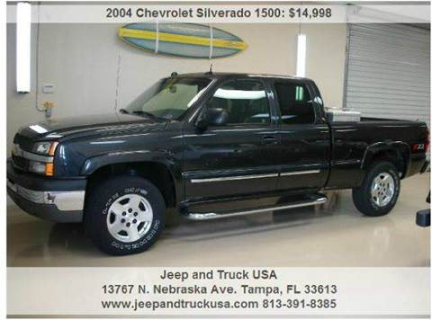 2004 Chevrolet Silverado 1500 for sale at Jeep and Truck USA in Tampa FL