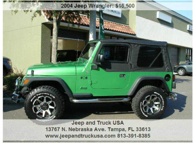 2004 jeep wrangler in tampa fl jeep and truck usa. Black Bedroom Furniture Sets. Home Design Ideas