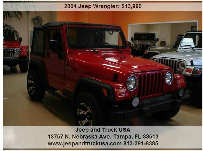 2004 jeep wrangler sport in tampa fl jeep and truck usa. Black Bedroom Furniture Sets. Home Design Ideas