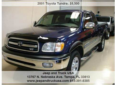 2001 Toyota Tundra for sale at Jeep and Truck USA in Tampa FL