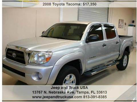 2008 Toyota Tacoma for sale at Jeep and Truck USA in Tampa FL