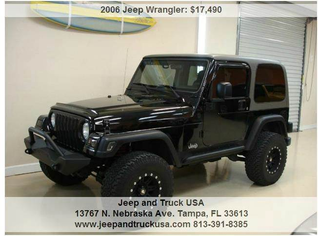 2006 jeep wrangler sport in tampa fl jeep and truck usa. Black Bedroom Furniture Sets. Home Design Ideas