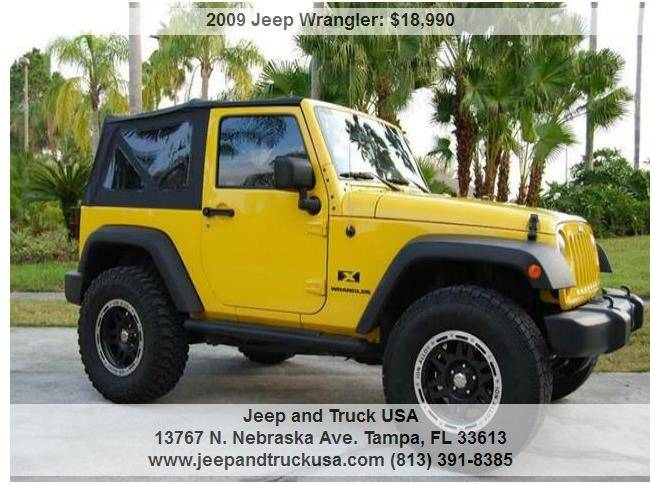 2009 jeep wrangler x in tampa fl jeep and truck usa. Black Bedroom Furniture Sets. Home Design Ideas