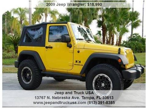 2009 Jeep Wrangler for sale at Jeep and Truck USA in Tampa FL