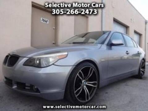 2004 BMW 5 Series for sale at Selective Motor Cars in Miami FL