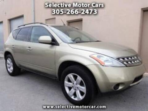 2007 Nissan Murano for sale at Selective Motor Cars in Miami FL