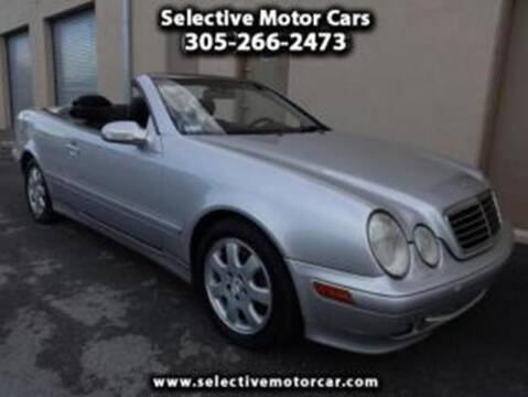 2002 Mercedes-Benz CLK for sale at Selective Motor Cars in Miami FL