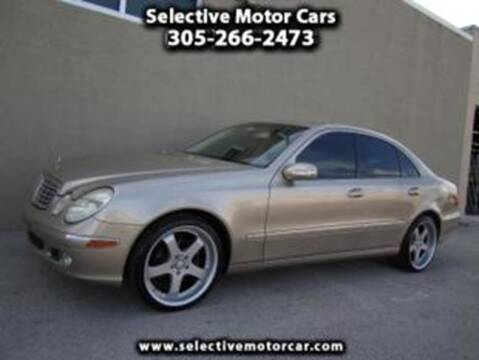 2003 Mercedes-Benz E-Class for sale at Selective Motor Cars in Miami FL