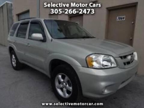 2006 Mazda Tribute for sale at Selective Motor Cars in Miami FL