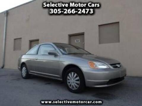 2003 Honda Civic for sale at Selective Motor Cars in Miami FL